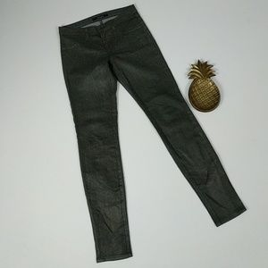 J. Brand Moonwalk Coated Skinny Jeans